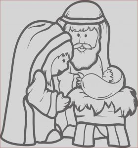 Jesus Coloring Pages for Kids Elegant Photos Free Printable Mary Joseph & Baby Jesus Coloring Page