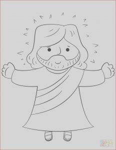 Jesus Coloring Pages for Kids Unique Gallery Cartoon Jesus Coloring Page