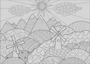 Landscape Coloring Beautiful Collection Landscape with Mills L&scapes Adult Coloring Pages