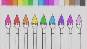 Paint Brush Coloring Beautiful Photos Learn Colors for Kids and Color Paint Brushes Back to