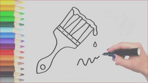 Paint Brush Coloring Luxury Image How to Draw A Wet Paint Brush