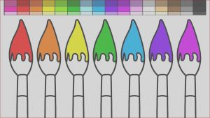 Paint Brush Coloring New Photos Learn Colors for Kids and Color Paint Brushes Rainbow