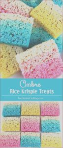 Rice Krispie Treats with Food Coloring Recipe New Stock Ombre Rice Krispie Treats Two Sisters
