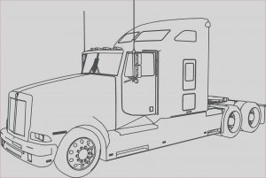Semi Truck Coloring Pages Beautiful Photos Trailer Truck Drawing at Getdrawings
