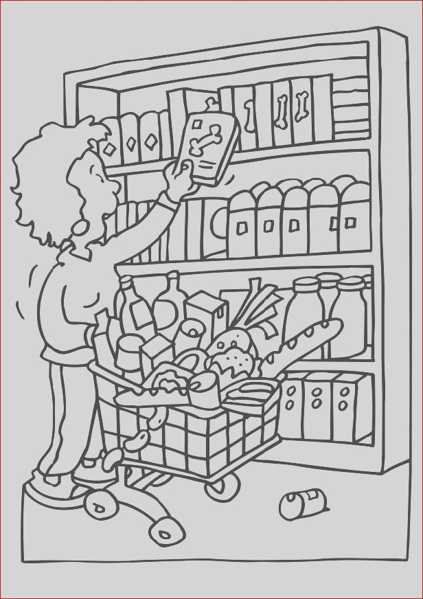 coloring page shopping i6571