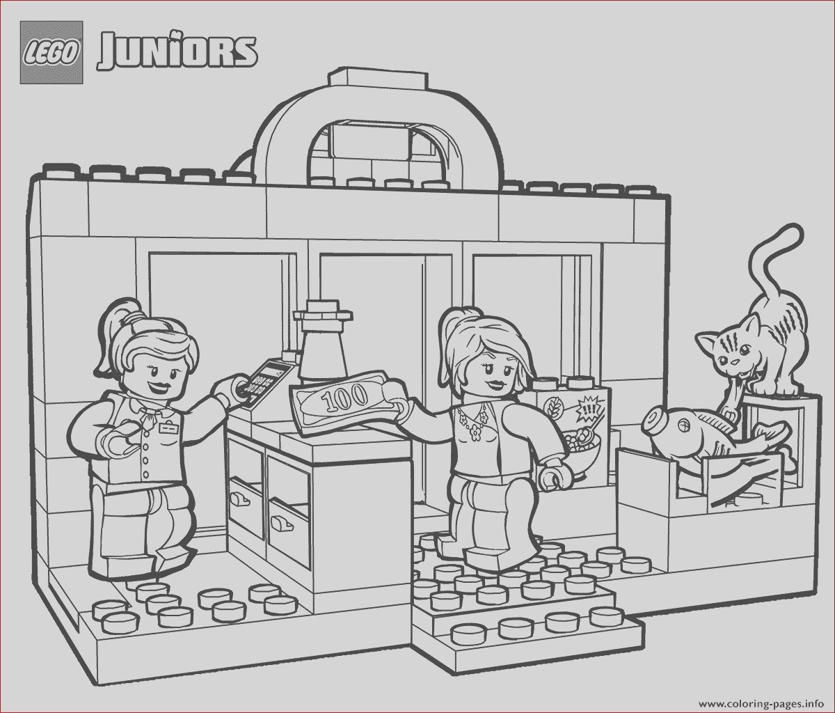 lego shopping printable coloring pages book