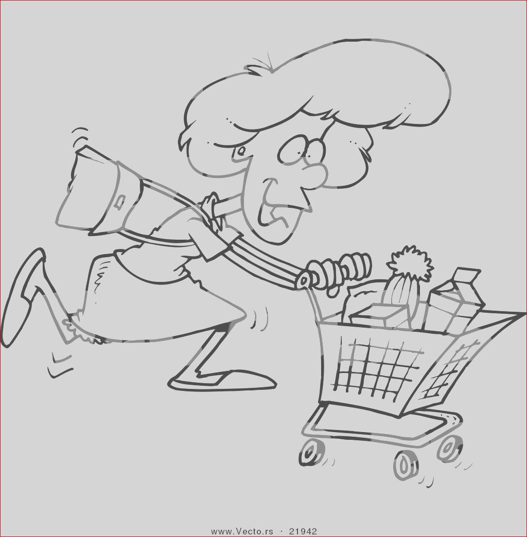 shopping bag coloring page
