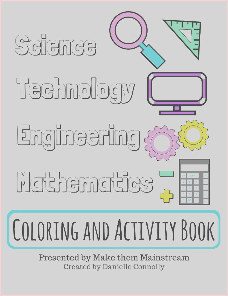 stem coloring and activity book