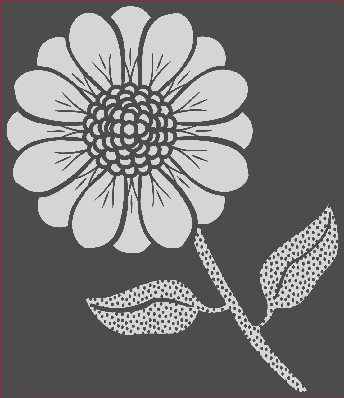 flower stem coloring page