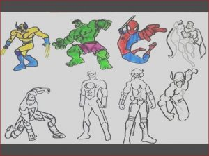 Super Hero Coloring Cool Photography All Superheroes Coloring Pages Hulk Iron Man Spiderman