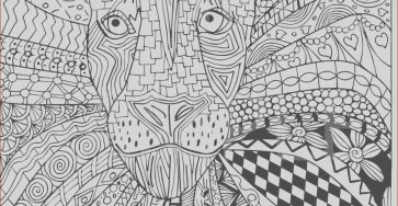 Adult Coloring Books Printable Cool Gallery Lion Zentangle Adult Coloring Page Instant Download Ready to
