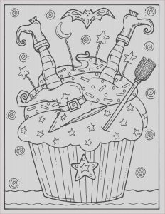 Coloring Book software Free Download Beautiful Collection 5 Pages Halloween Cupcakes to Color Instant Download