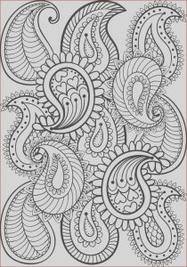Coloring Books Patterns Awesome Image Hand Drawn Paisley Pattern for Adult Coloring Page A4 Size