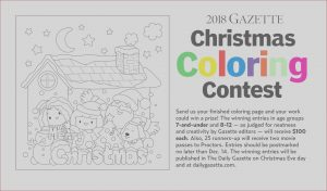Coloring Contest Elegant Gallery Gazette Christmas Coloring Contest Under Way
