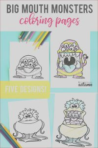 Coloring Crafts for Kids Awesome Photos Printable Big Mouth Monster Coloring Pages It S Always