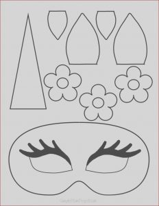Coloring Crafts for Kids Inspirational Photos Unicorn Face Masks with Free Printable Templates