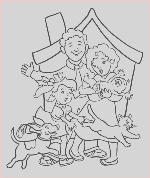 all family member coloring page