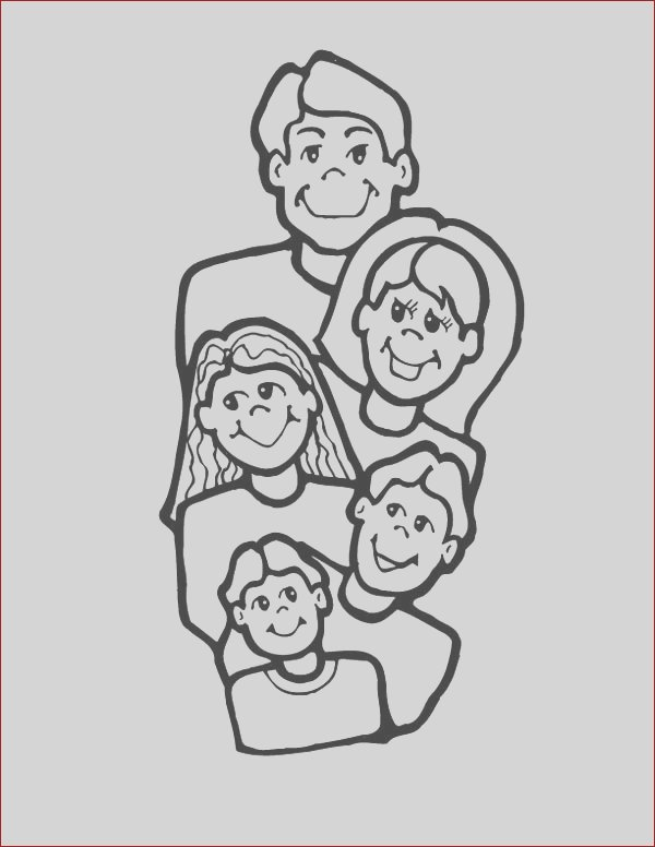 all family member picture coloring page