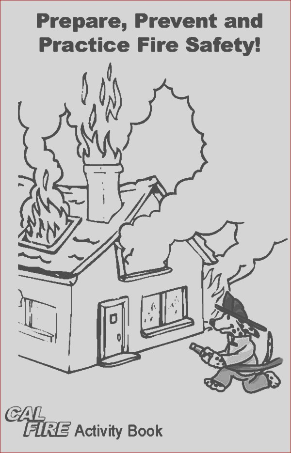 practice fire safety with fire dog coloring pages
