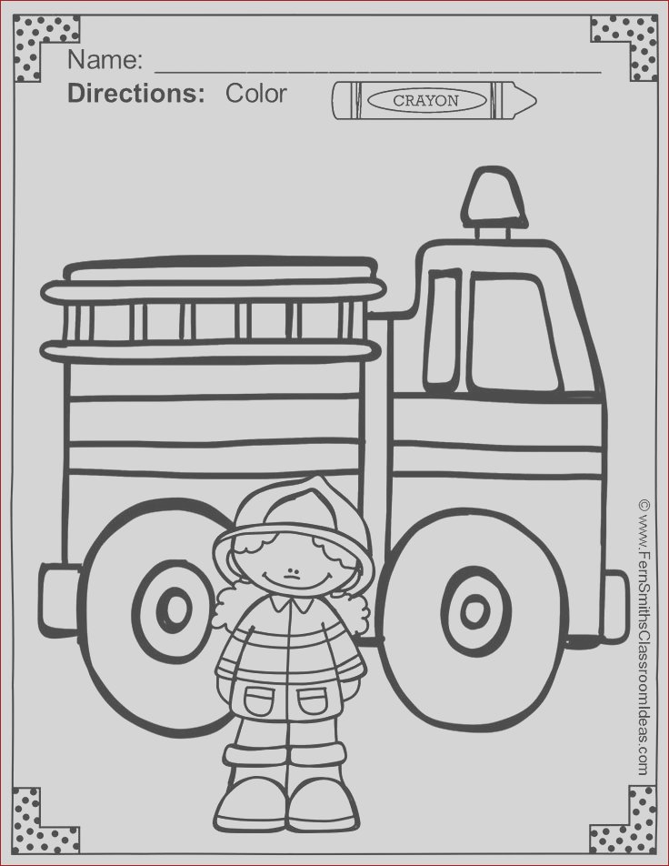 kids firefighter coloring pages
