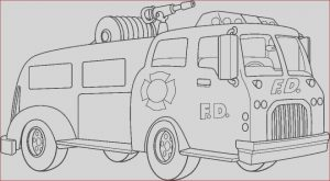 Free Fire Truck Coloring Pages Printable Unique Images Fire Truck Coloring Pages Getcoloringpages Sketch