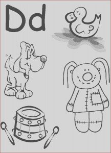 Free Printable Coloring Pages for Kindergarten Beautiful Photography Letter D Worksheet Preschool at Home