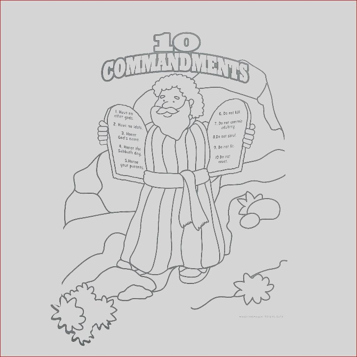 free printable ten mandments coloring pages