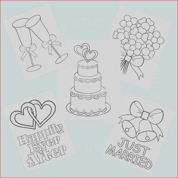 5 printable wedding favor kids coloring