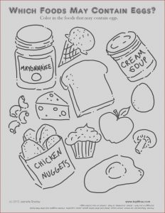 How to Get Out Food Coloring New Gallery Egg Allergy Acitivity and Colouring Page
