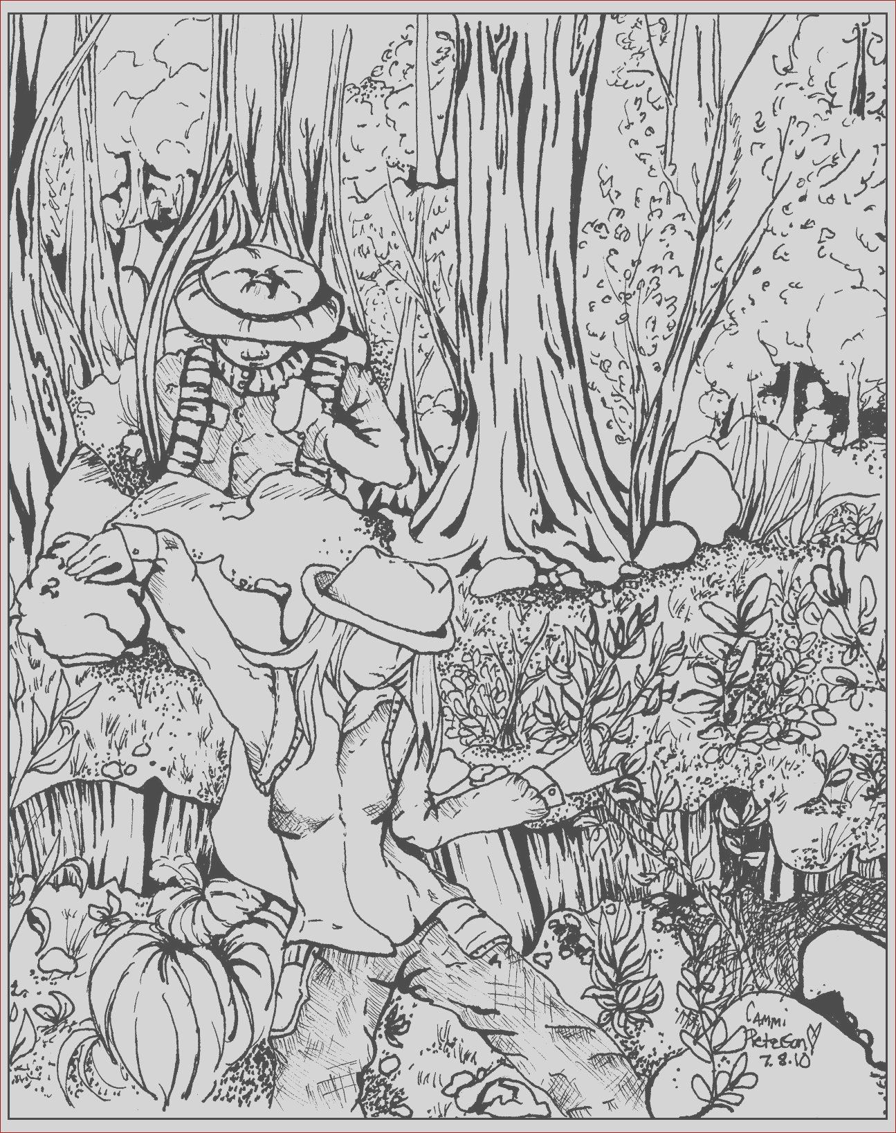 image=jungle forest coloring lost in forest 1