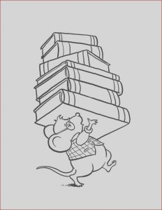 Library Coloring Pages Awesome Collection Library Mouse Brought Lot Of Book at Library Coloring