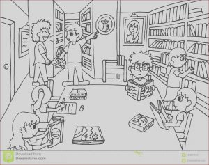 Library Coloring Pages Luxury Photos Keep Quiet In the Library Stock Illustration Illustration