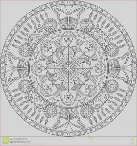 Mandalas Coloring for Adults Luxury Image Adult Coloring Page Mandala with Flowers and butterflies