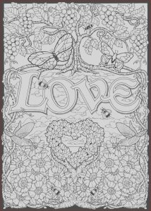 Online Adult Coloring Books Awesome Image Love Color by Number