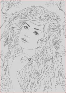Online Adult Coloring Books Beautiful Images Nymph Printable Adult Coloring Page From Favoreads
