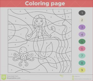 Online Coloring Games for toddlers Inspirational Collection Educational Game for Kids Color by Numbers Stock Vector