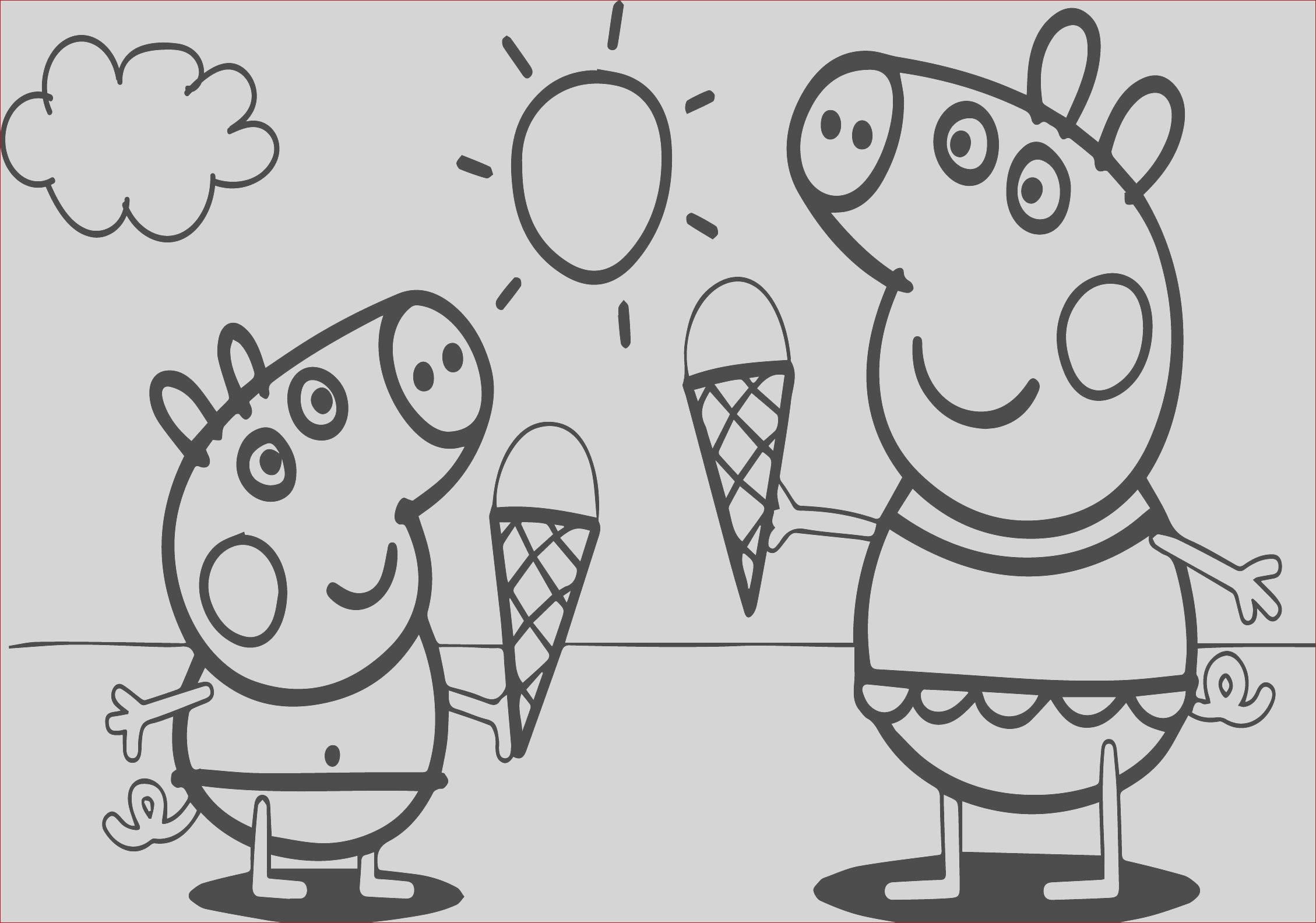 peppa pig video free coloring page
