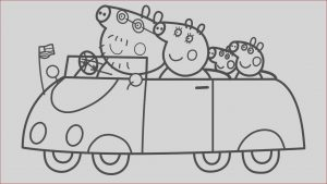 Peppa Pig Coloring Pages Online Unique Images Peppa Pig Family In Car Coloring Pages