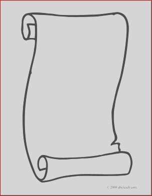 clip art scroll 3 coloring page