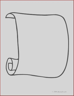 clip art scroll 1 coloring page