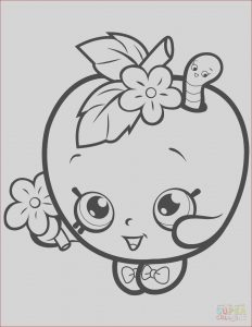 Super Coloring Pages Awesome Stock Apple Blossom Shopkin Coloring Page