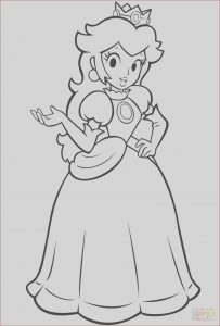 Super Coloring Pages Inspirational Gallery Mario Bros Princess Peach Coloring Page