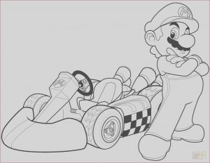 Super Coloring Pages New Photography Mario In Mario Kart Wii Coloring Page