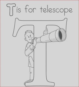 Telescope Coloring Page Beautiful Photos Telescope Coloring Pages