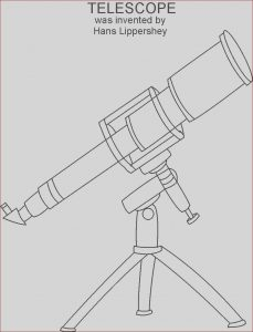 Telescope Coloring Page Elegant Gallery Telescope Coloring Printable Page