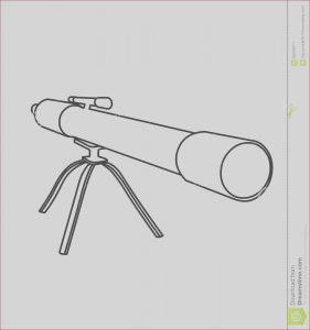 Telescope Coloring Page Elegant Images Telescope Coloring Page Stock Illustration Illustration