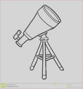 Telescope Coloring Page New Stock Coloring Book Telescope Stock Vector Illustration Of