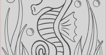 Under the Sea Coloring Sheets Beautiful Collection Personalized Printable Sea Horse Under the Sea Seahorse