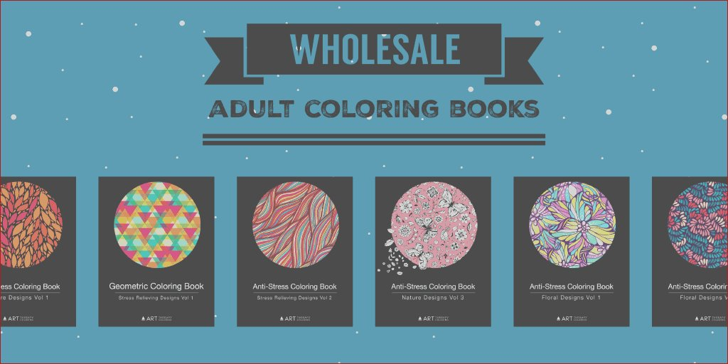 wholesale adult coloring books