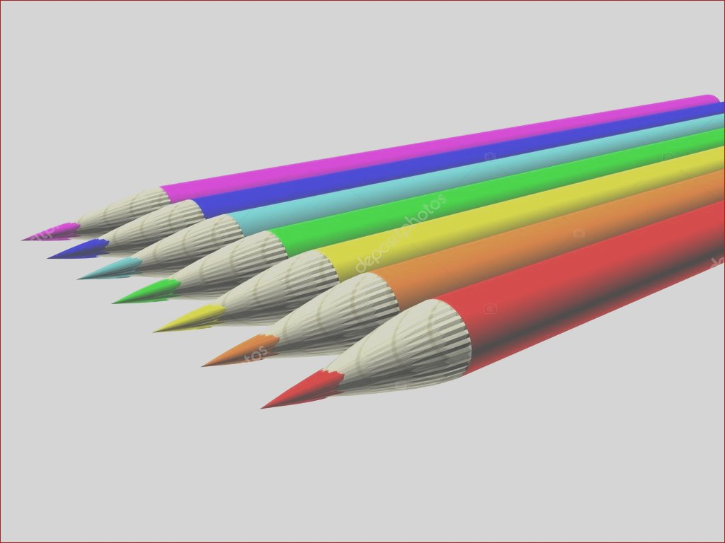 stock photo image 3d color pen set 35